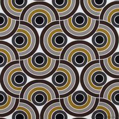 Bauhaus Brown Grey fabric by Alexander Henry