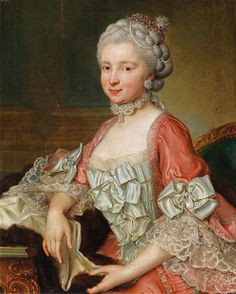 Portrait d'Elisabeth Tscharner, née von Wattenwijl peint par Johann Nikolaus Grooth