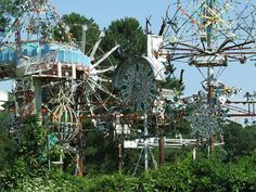 A group of Simpson's kinetic sculptures.