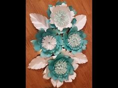 DIY Large Paper Flower, Paper flower stencil, paper flower backdrop, flower backdrop - YouTube