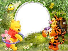 Created in «Webka Photo Frames Winnie The Pooh Birthday, Disney Winnie The Pooh, Disney Scrapbook, Baby Scrapbook, Kids Routine Chart, Winnie The Pooh Pictures, Disney Frames, Baby Picture Frames, Boarders And Frames