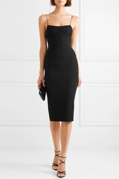Black stretch-cady Two-way zip fastening through back triacetate, polyester Dry clean Alex Perry, Event Dresses, Prom Dresses, Mini Dresses, Short Dresses, Bridesmaid Dresses, Formal Dresses With Sleeves, Dress Up, Bodycon Dress
