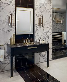 Riviere collection by Oasis – luxury bathroom furniture – Bathroom Inspiration Art Deco Bathroom, Modern Bathroom Design, Bathroom Interior Design, Decor Interior Design, Master Bathroom, Art Deco Vanity, Simple Bathroom, Interior Modern, Bathroom Ideas