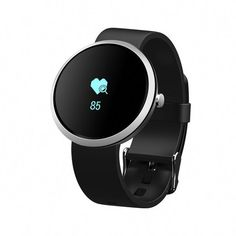 Watches Careful I6 Smart Watch Round Shape Smart Watch Bluetooth Heart Rate Monitor Alarm Clock Pu Leather Smart Watch 1.22 Inch Screen