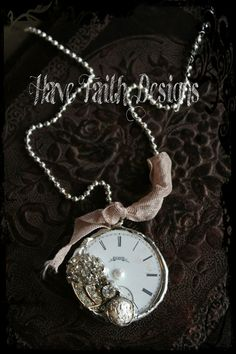 Vintage Timepiece necklace by HaveFaithDesigns on Etsy