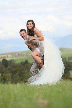 Young love: Sinead & Matt's rustic country wedding