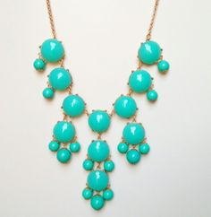 These are SOLD OUT!! :( Turquoise Bubble Necklace