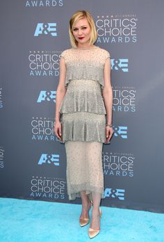 Kirsten Dunst 21st Annual Critics' Choice Awards, Arrivals, Los Angeles, America – 17 Jan 2016