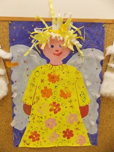 Andělíček Crafts For Kids To Make, Projects For Kids, Art Projects, Cool Kids, Kids Fun, Ballerina Party, Angel Crafts, Three Year Olds, Winter Art