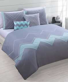 Look what I found on #zulily! Brookhaven Five-Piece Oversized Embroidered Comforter Set #zulilyfinds
