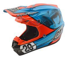 226c486a4bcc5 Troy Lee Designs 2018 SE4 Composite Helmet Mcqueen Blue Orange All Sizes