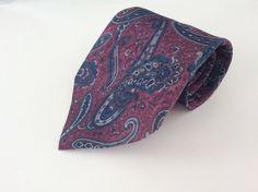 The Bon Marche Neck Tie Purple Blue Brown Paisley #TheBonMarche #NeckTie