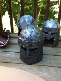 cardboard helmets