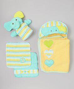 Take a look at this Piccolo Bambino Turquoise Elephant Hooded Towel Set on zulily today! Baby Bath Time, Circus Baby, Love Is Sweet, Towel Set, Mom And Baby, Baby Gear, Washing Clothes, Future Baby, Baby Room