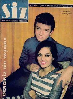 Siz Dergisi (1967) Kapak: Zeki Müren ve Türkan Şoray #İstanbulBeniBırakma #istanlook