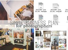 """Simple Business Plan for Photographers •""""A business plan is a formal statement of a set of business goals, the reasons they are"""