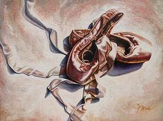 """""""Satin Ribbons""""  Acrylic and oil painting"""