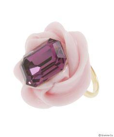 Jewel Whip Ring Pink