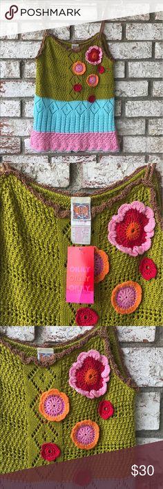 BNWT Oilily Crochet Top Sz M Crochet Koppa Oilily Sz M Oilily Tops Tank Tops