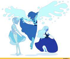 Steven universe,фэндомы,SU art,SU Персонажи,Lapis Lazuli,Sapphire (SU),Blue Pearl,Freetre