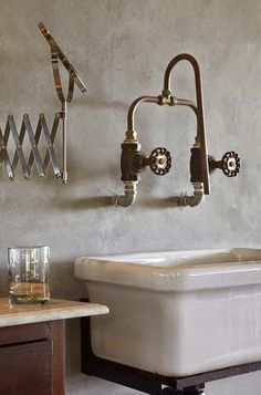 dirtbin designs: copper pipes and taps