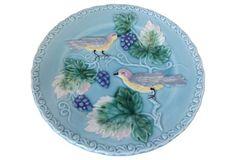 Majolica Bird Plate