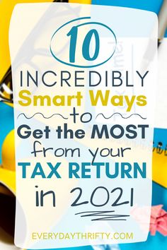 While you're financial planning for the future, check out these SMART ways to use your tax return in 2021 that can help set you up for financial success! #financialplanning #moneymanagement #personalfinance Financial Success, Financial Planning, Best Money Saving Tips, Saving Money, Tax Refund, Ways To Earn Money, Budgeting Tips, Money Management, Personal Finance