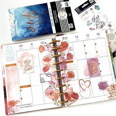 """Seton Sargent on Instagram: """"@happydot.plans and I chose florals for next week and my #weeklyspread is all about the pinks 🎀  I've been hoarding these florals since…"""" Planner Tabs, Planner Layout, Life Planner, Happy Planner, Planner Ideas, Planners, Planner Organization, Organizing, Printable Planner Stickers"""