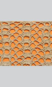 Openwork crochet pattern in the form of vertical stripes