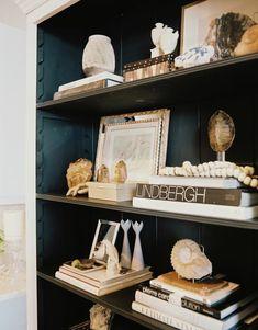 Decorating Shelves office makeover reveal | decorating, vintage and shelves