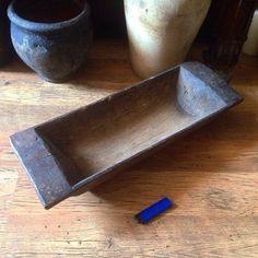 Antique Dough Bowl Wooden Rustic Bowl Primitive by SovietHardware