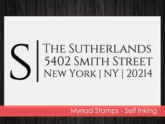 Self Inking Stamp  Custom Address Rubber by LittlePrintsStamps