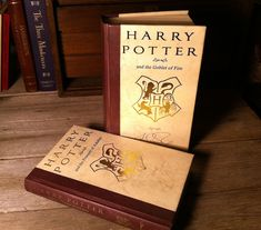 How to make your own custom cover for Harry Potter books using laser transfer foil and a laser printer.