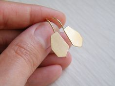 Gorgeous gold geometric earrings.
