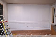 """3.5"""" spacing - How To Install Picture Frame Moulding (The Easiest Wainscoting Style Ever!)"""