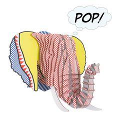 Eyan Elephant Bust Pop Wall Décor, 41.99 | Wayfair