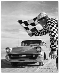 Chevrolet Bel Air 1957 Sedan Art Poster-Chevy Mall