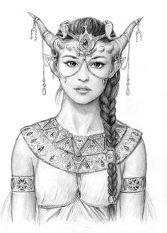 Tiefling Prophetess by dashinvaine.deviantart.com on @DeviantArt