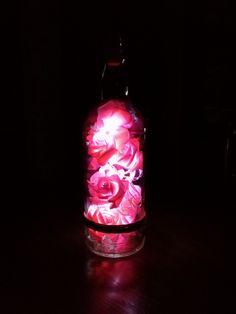 Lampada bottiglia rose a led