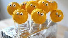 Macarons comme des poussins pour Pâques