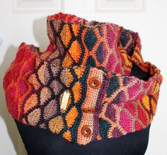 Crocheted Stained Glass Infinity Scarf Pattern by kayeadolphson