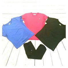 Bundle 3 sport tops!!! 1 Blue - Danskin - M - 8/10 - 100% Polyester 1 Pink - New Balance - M - 100% Polyester 1 Black - Danskin - M - 8/10 - 100% Polyester danskin-New balance Tops Tees - Short Sleeve