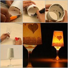DIY Candle Shade from Paper Cup