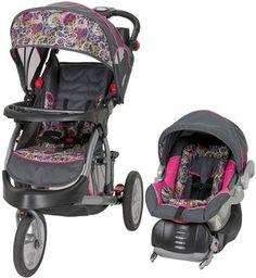 Baby Stroller Set Car Seat & Portable Playpen w/ Travel Bassinet ...
