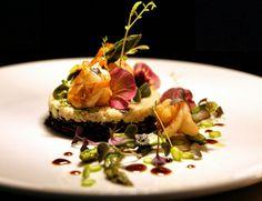 #black&white #risotto #shrimps #asparagus #chefeduard #flower #love