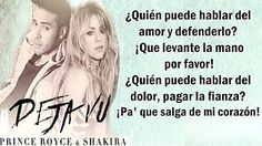 (35) Prince Royce, Shakira - Deja vu (Letra) - YouTube