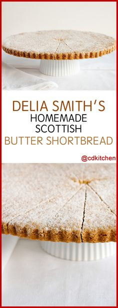 Delia Smith's Home-Made Scottish Butter Shortbread - Made with butter, caster sugar, flour, semolina Digestive Cookies, Digestive Biscuits, Chef Recipes, Baking Recipes, Snack Recipes, Xmas Recipes, Caster Sugar Recipe, Delia Smith, Kitchens