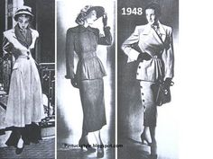 1948  Pintucks: Lilli Ann Suits: the late 1940's, Vintage Suits with Fashion Flare