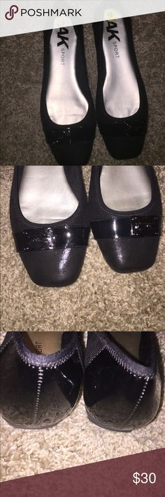 Ann Klein Sport black flats Ann Klein sport black flats sturdy only worn once. Anne Klein Shoes Flats & Loafers