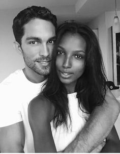 Rainy days with this one. Jasmine Tookes and Tobias Sorensen Couple Goals, Love Couple, Beautiful Couple, Sweet Couple, Interacial Love, Interacial Couples, Black Woman White Man, Black And White Love, Black Girls